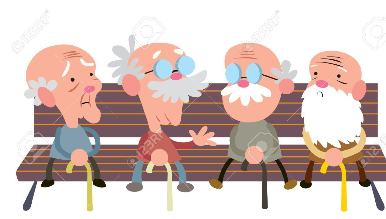 26173476-elderly-people-on-a-bench